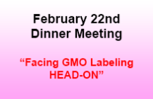 February 22nd Dinner Meeting