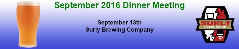 September 2016 Dinner Banner