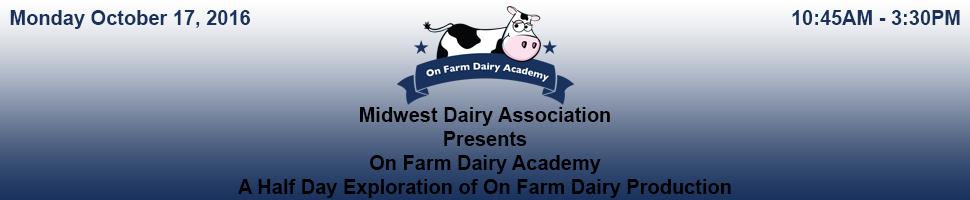 October 2016 Dairy Academy