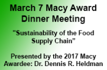 Macy Award Night<br/>March 7 Dinner Meeting<br/>Register Now!