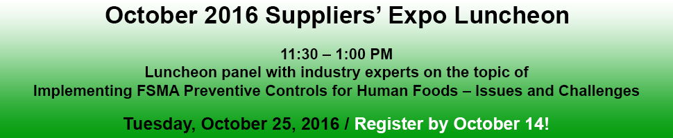 Suppliers' Expo Luncheon