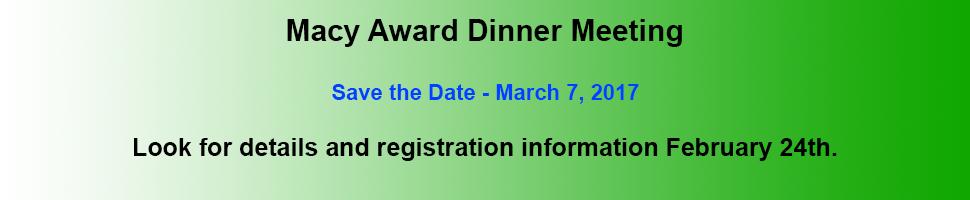 Macy Award Dinner Meeting 2017